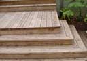 Wooden deck and stairs